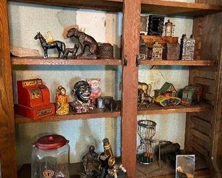 Vintage Coin Banks, Cast Iron Banks, Bronze Figure