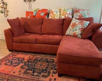 Sleeper sofa with chaise.
