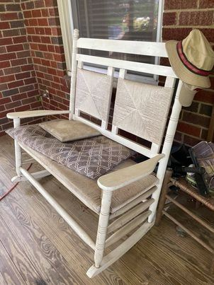 Cozy double rocker for outdoors