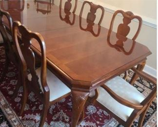 Beautiful Cherry Dining Table and Chairs https://ctbids.com/#!/description/share/1023373