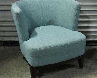 Blue Barrel Back Chair