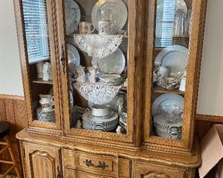 China cabinet, dishes