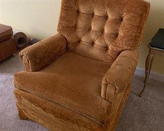 Cute vintage swivel arm chair