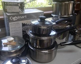 new name brand cookware. So many pots and pans. Now would be the time to invest in new cookware. Mary Frances has what you need.