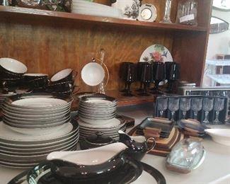vintage dinnerware. It's sleek and pretty.