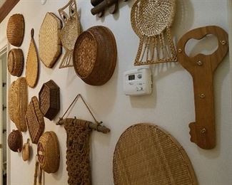 baskets galore! hang them on your walls. Use them in every room. Have fun.