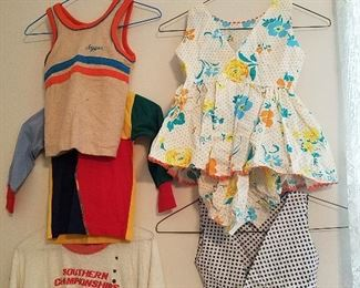 vintage children's clothing. This jogging suit belongs on some little person in 2021!