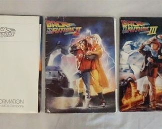 1002LOT OF THREE BACK TO THE FUTURE MOVIE PRESS KITS FOR THE 1ST 2ND & 3RD FILMS, ALL INCLUDE PRINTS, PRODUCTION INFO & SCREENING INVITATIONS.