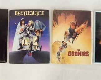 1008LOT OF FOUR MOVIE PRESS KITS INCLUDING GREMLINS, THE GOONIES, BEETLEJUICE, & HOOK. KITS CONTAIN STILLS FROM THE MOVIES, PRODUCTION INFO ETC.