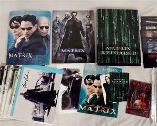 1011LARGE LOT OF THE MATRIX FILM MEMORBILIA, LOT INCLUDES PRESS KITS, SIGNED PRINTS, PRODUCTION INFO, ETC.