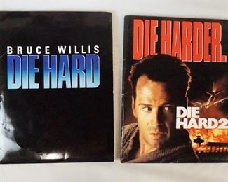 1012LOT OF TWO DIE HARD MOVIE PRESS KITS. LOT INCLUDES DIE HARD; KIT CONTAINS 13 STILLS, PRODUCTION INFO & AN INVITATION TO THE FILM SCREENING, & DIE HARDER; KIT CONTAINS 7 STILLS, PRODUCTION INFO & AN INVITATION TO THE FILM SCREENING.