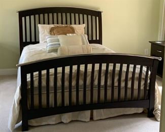 Queen Size Bed and Brand New Mattress Set with Comforter and Decorative Pillows