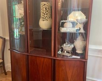 Skovby Rosewood Display China Cabinet Made in Denmark