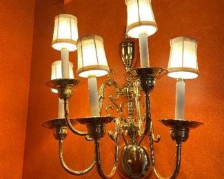 Brass wall-mount fixture