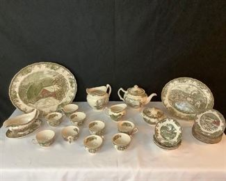 10 Brown China Made in England, Johnson Bros