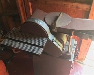 Sander 10 inch disk, 6x48 belt