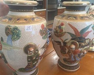 (2) Japanese Vases