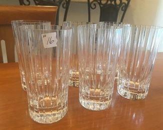 6-Baccarat Highball Glasses or Drinking Glasses