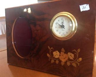 Italian Inlaid Picture Frame/Clock