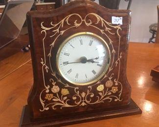 Italian Inlaid Mantle Clock