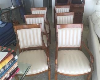 (8) Arm Chairs (only 6 showing)
