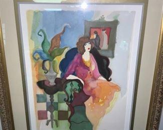 City Lady by Israeli Artist Itzchak Tarkay