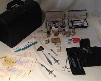 Vintage Original Medical Equipment Dr Medical Bag of FAMOUS Dr Stanley Ish, Jr AUCTION