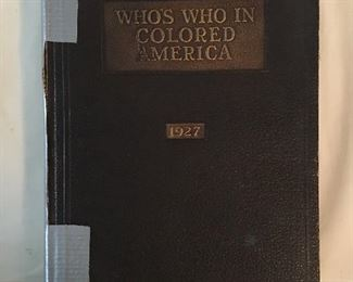 Who's Who in Colored America Book with a signed warning by Claude A Barnett, April 2nd, 1927