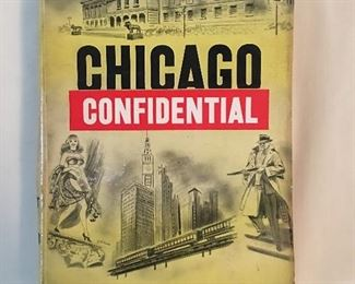 """Early Chicago Confidential Book with a personal decal """"From the Library of Claude A Barnett,"""" Founder of the Associated Negro Press."""