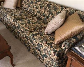 Newly upholstered long Vintage sofa