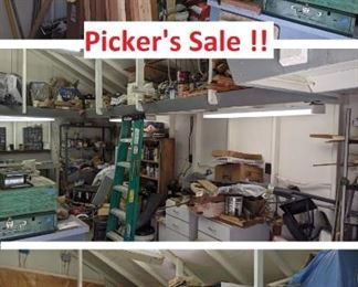 Picker's Sale - all leftover and miscellaneous items. Must win at least one bid to attend.