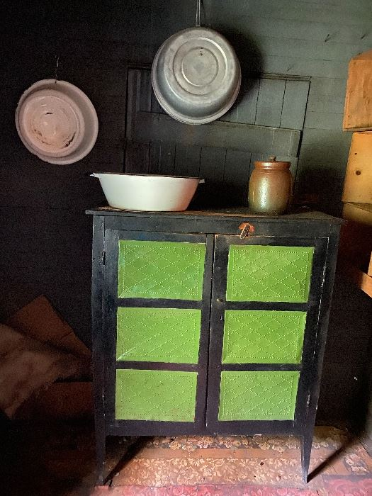 Green punched front Pie safe