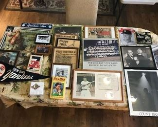 Yankee Fans, sports memorabilia collectors and sports bar owners...this collection is for you! $200 for all. Please message for individual pricing.