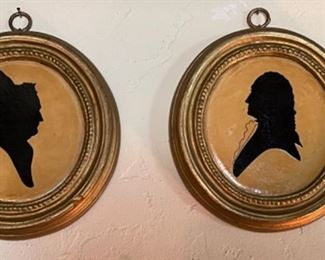 Cut out framed silhouette portraits