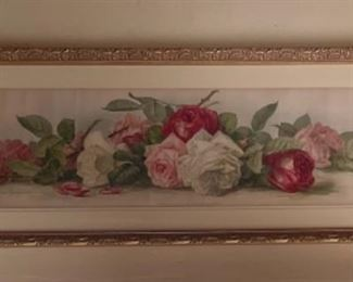 Signed print by Newton Wells, listed artist
