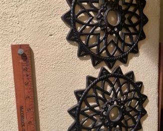 Antique cast iron registers