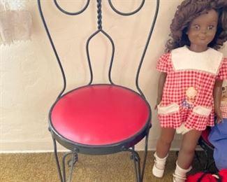 Child's ice cream chair