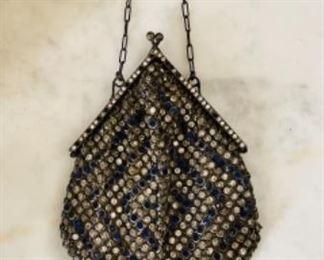 Victorian steel-cut bead purse