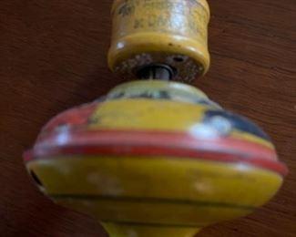 Antique tin litho child's top toy