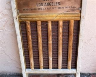 Los Angeles Dairy advertising washer board