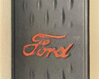 Ford Model T footboard. It's been used as a shelf