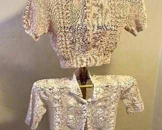 Antique Victorian young women's crocheted tops