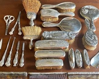 Sterling dresser vanity pieces