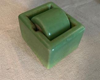 1930's Sengbusch Ideal Junior green porcelain stamp moistener