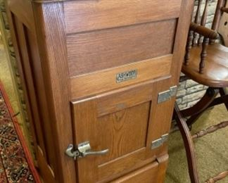 Ashwood by Ranney Refrigeration Co. antique refrigerator / ice box, Greenville, Mich. In stunning shape!