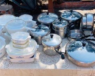 Revere Ware and Corning Ware