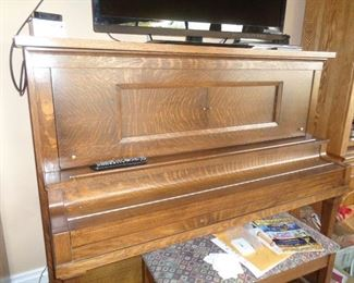 1919 Cable Euphonia Full Size Upright Player - Combo electric and manual foot pedal pump
