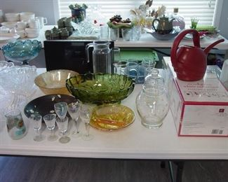 Glassware and other items