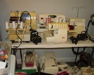 Sewings machines and SERGERS - Brother, Baby Lock, Singer, Esante, and lots of sewing accessories.