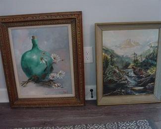 Beautiful original oils by a local Alaskan artist